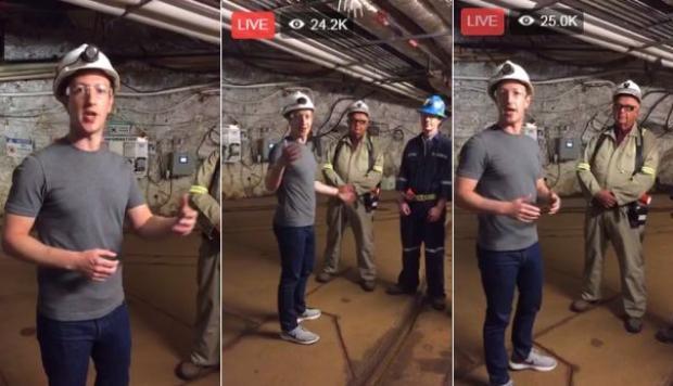 Mark Zuckerberg viaja más de 1,5 km bajo la tierra y aprende más sobre 'fracking'