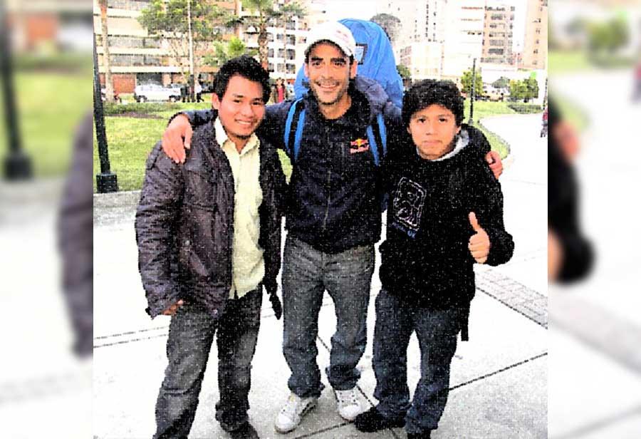 Unas de las primeras experiencias y aventura fue el deporte extremo aquí con el Campeón Mundial en Parapente Acrobático Hernán Pitocco.