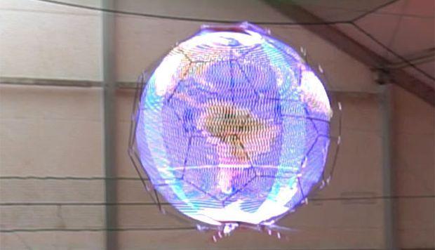 Empresa japonesa crea primer dron esférico capaz de reproducir imágenes