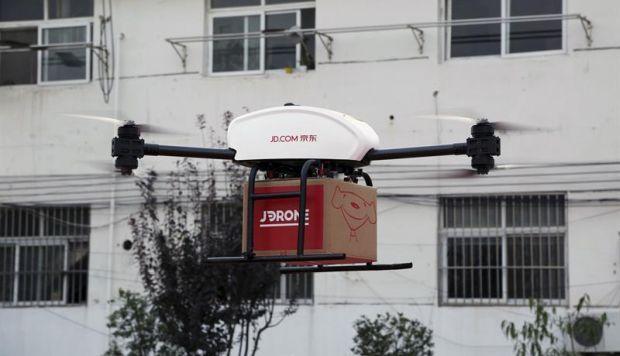 Rival de Amazon en China ya usa drones para realizar entregas