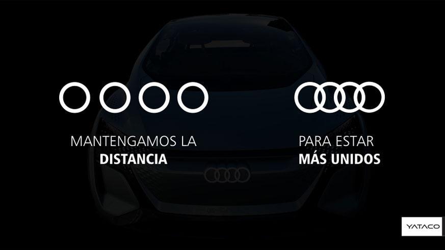 Coronavirus: Audi aplica distancia social y separa sus famosos aros