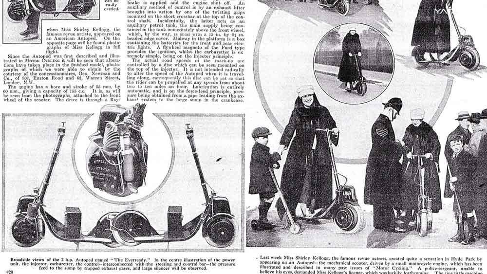 Autoped desde 1915 nos ense�o el futuro de los scooters el�ctricos