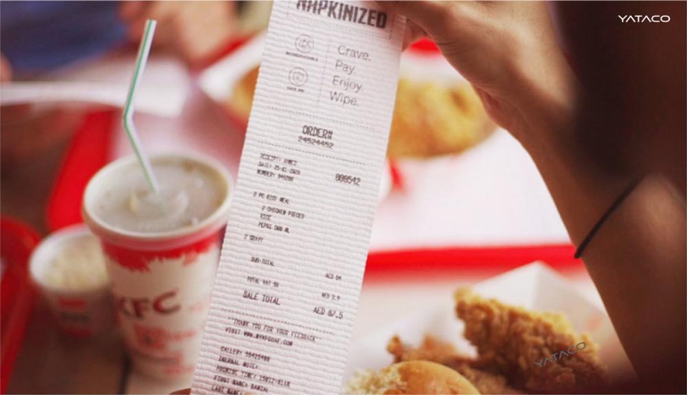 KFC convierte sus vouchers de pago en servilletas para sus clientes