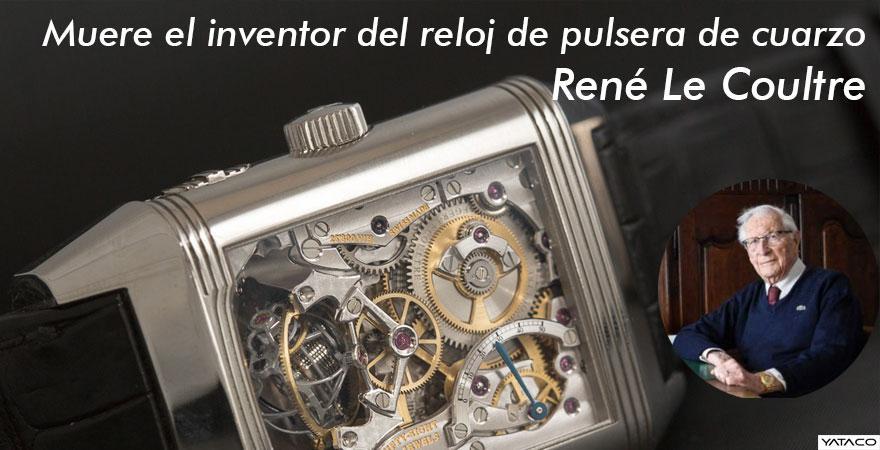 Muere el inventor del reloj de pulsera de cuarzo, René Le Coultre