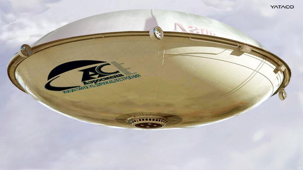 Dirigible Ruso que parece un OVNI promete hasta 600 toneladas de carga