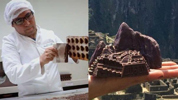 CUSCO: Artesano hace esculturas de chocolate sobre la cultura peruana