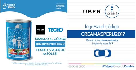 Uber lanza campaña social para Crea+ y Techo