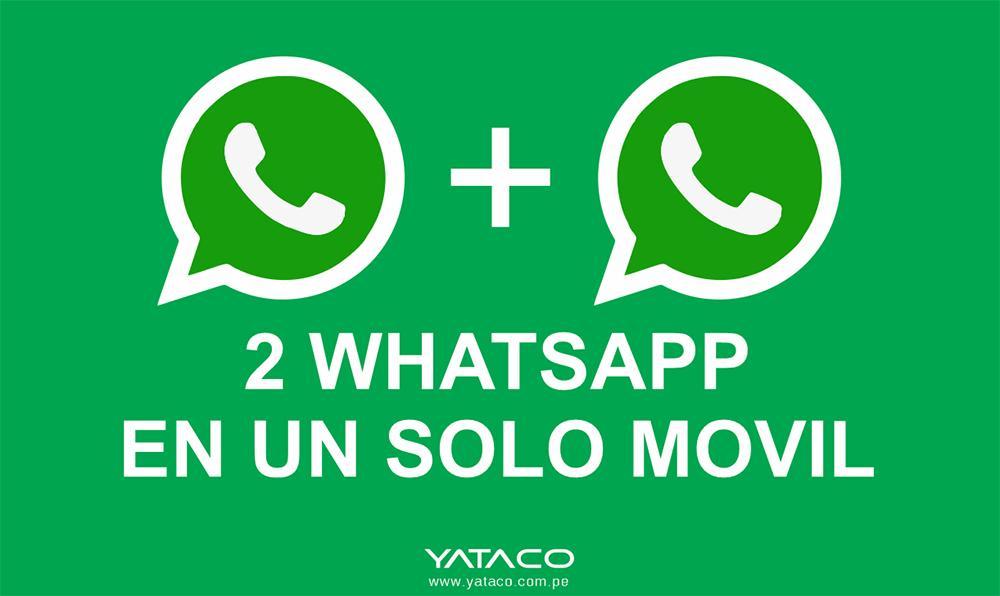 Cómo usar dos cuentas de WhatsApp en un solo móvil